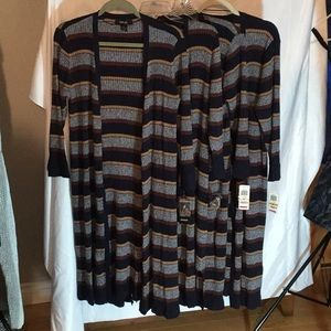 Nice Style & Co Woman Striped Open Front Cardigan
